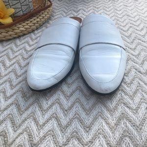 Halogen Shoes - Halogen Violet Mule white leather size 8.5